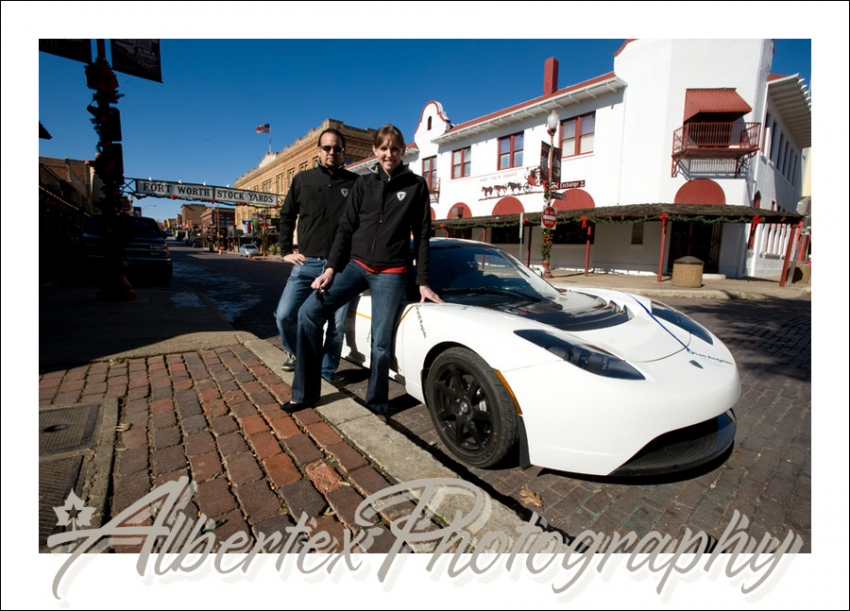 Tesla at the Fort Worth Stockyards by Fort Worth Photographer Albertex Photography
