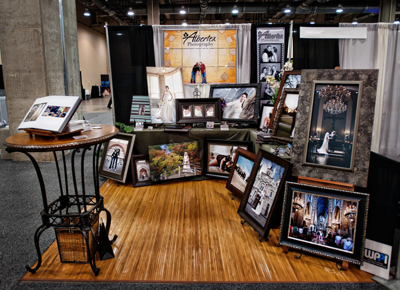 Star Telegram Bridal Show Booth at the Gaylord Texan for DFW Dallas Fort Worth Wedding Photographers Albertex Photography