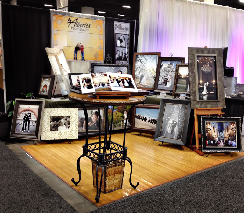 Albertex Photography Bridal Show Booth - DFW Dallas Fort Worth Wedding Photographers Bill and Tanya Vahrenkamp