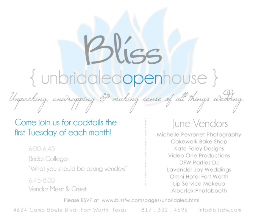 Bliss Bridal Open House