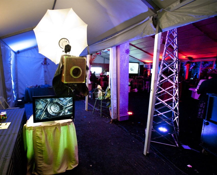 Steampunk Photobooth from Alisha & Dean