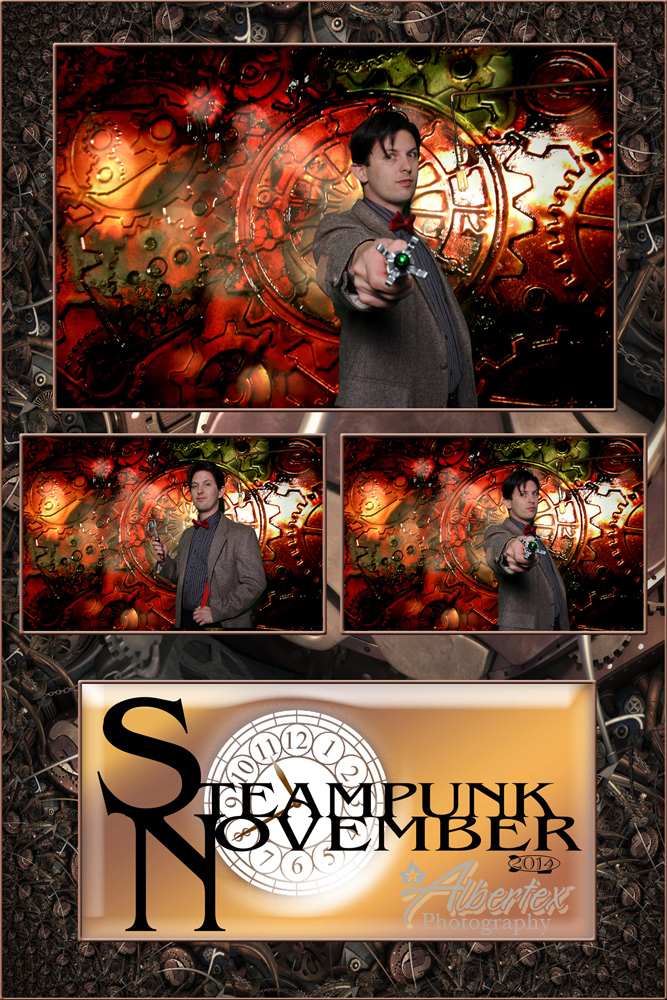 The Doctor visited us at the Steampunk November.