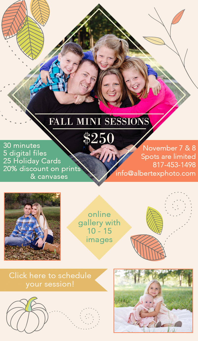 Fall Mini Sessions DFW Dallas Fort Worth